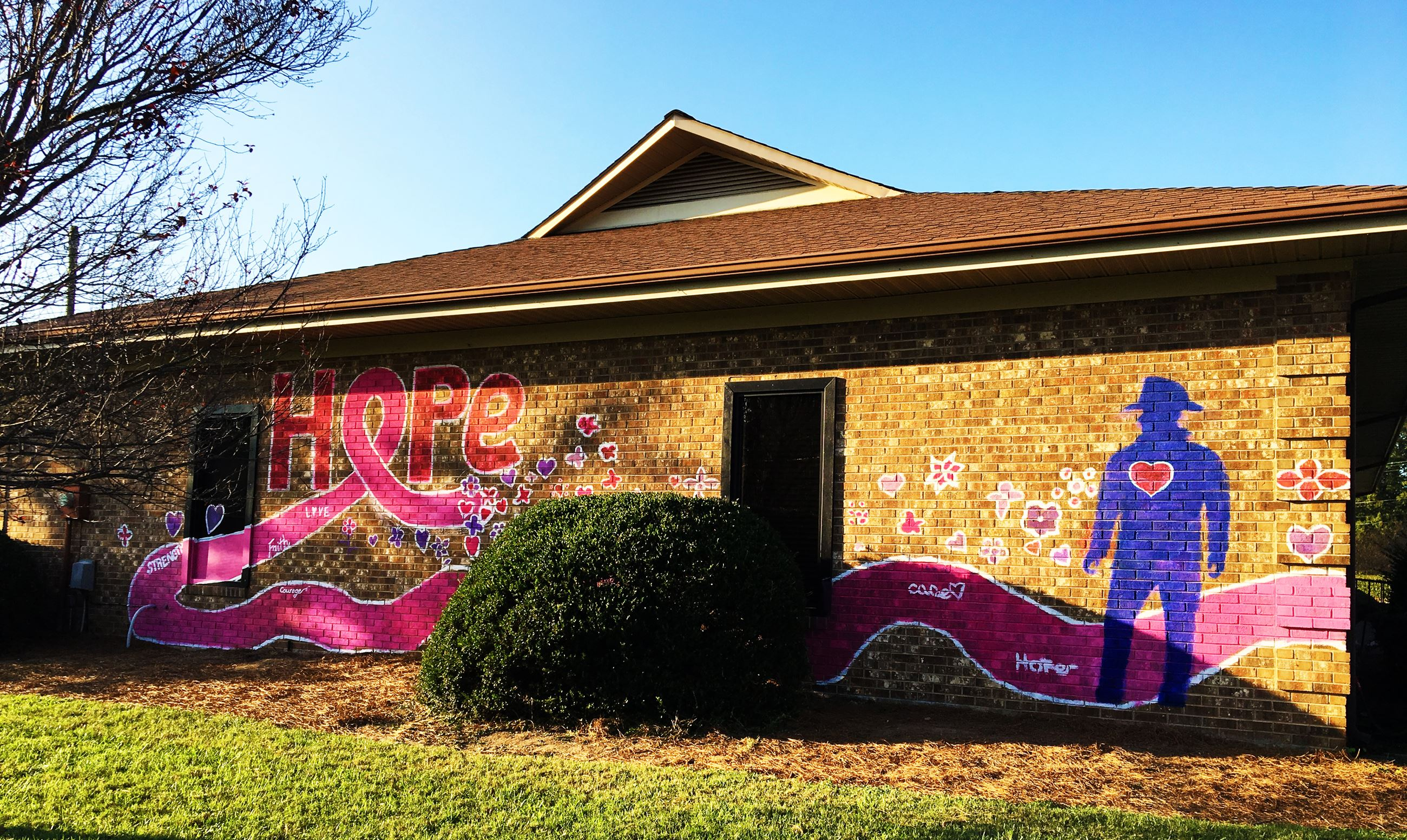 Breast Cancer Awareness Month mural