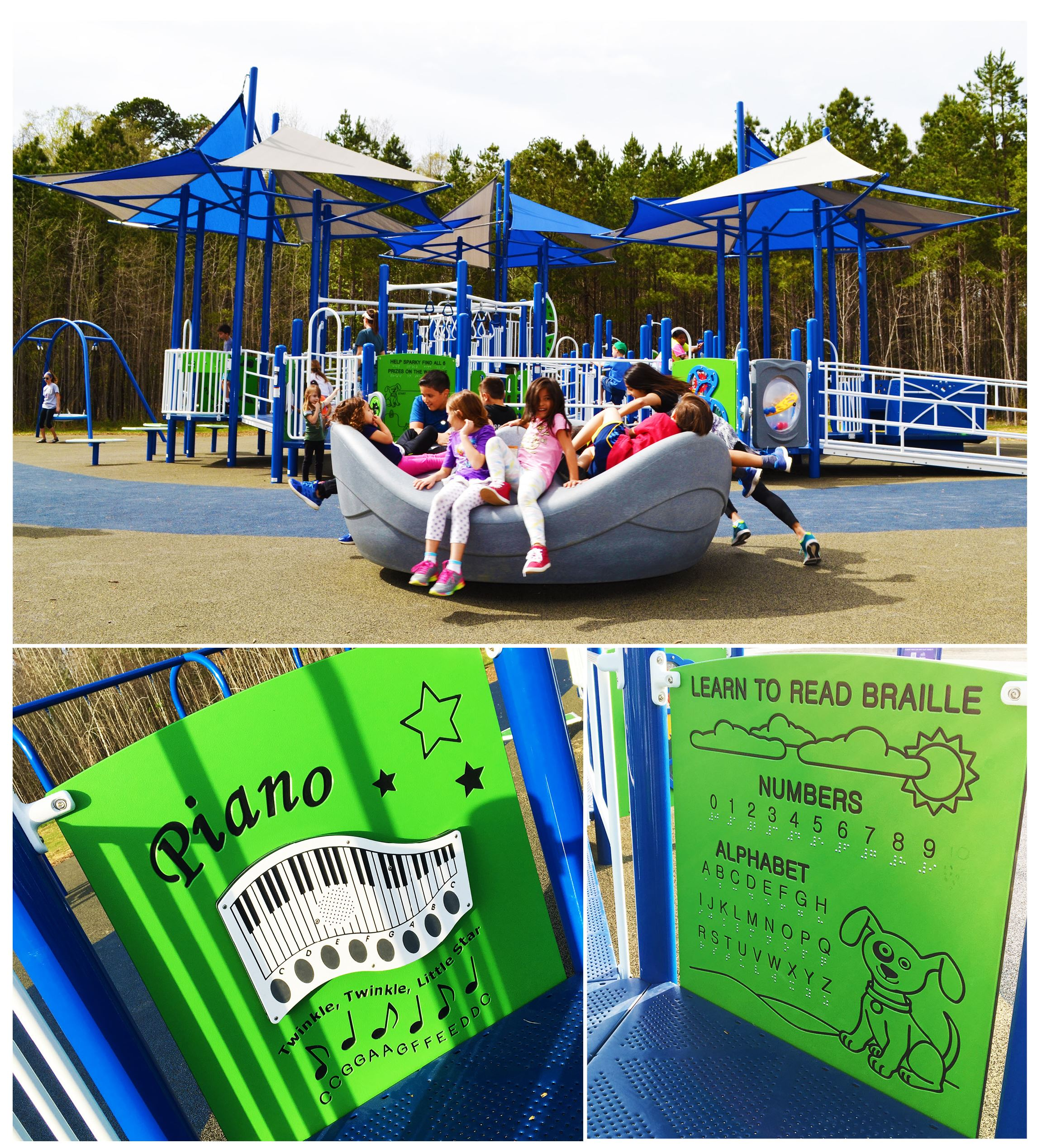 playground collage of photos