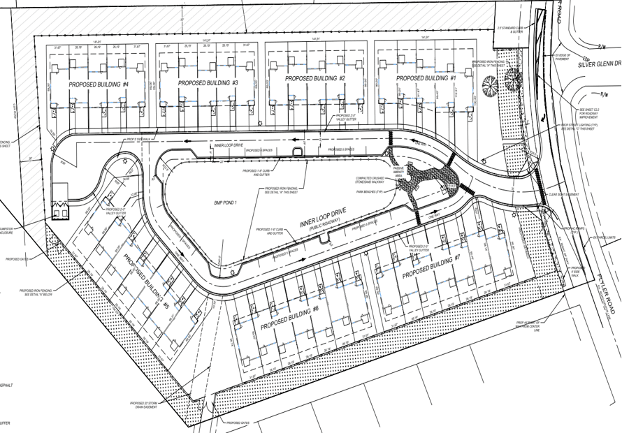 Plyler Road Townhomes Site Plan