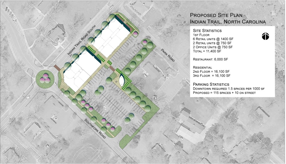 Indian Trail Road Restaurant/Mixed Use Development Site Plan