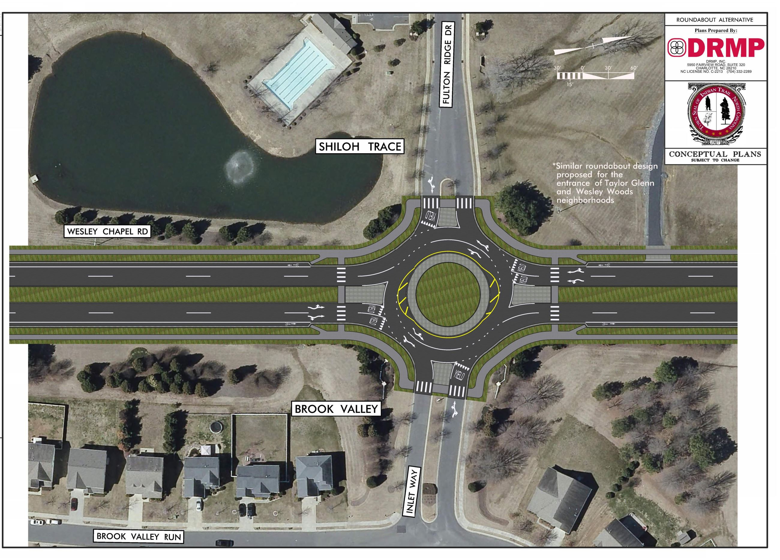 Wesley Chapel Road potential roundabout