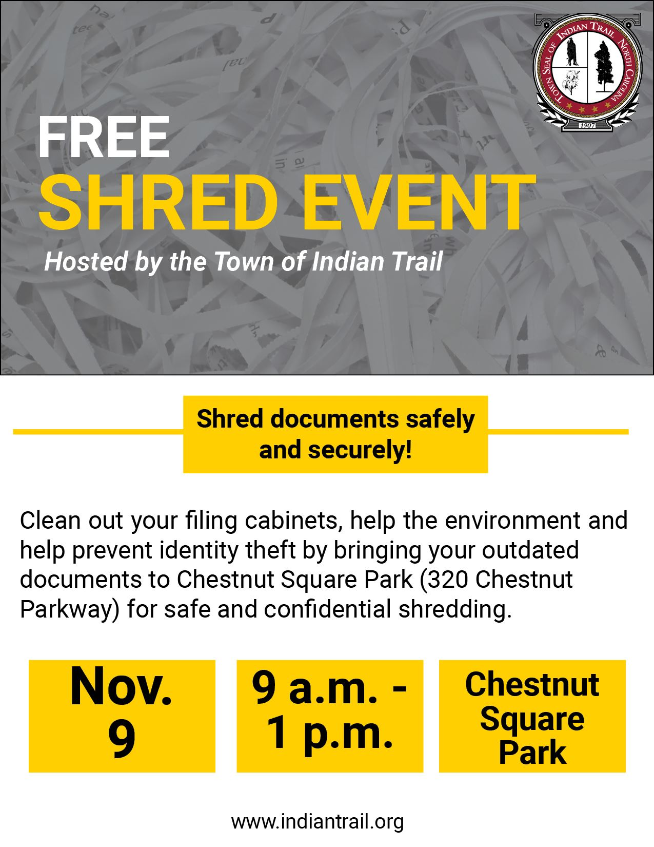 Document Shred Event Flyer