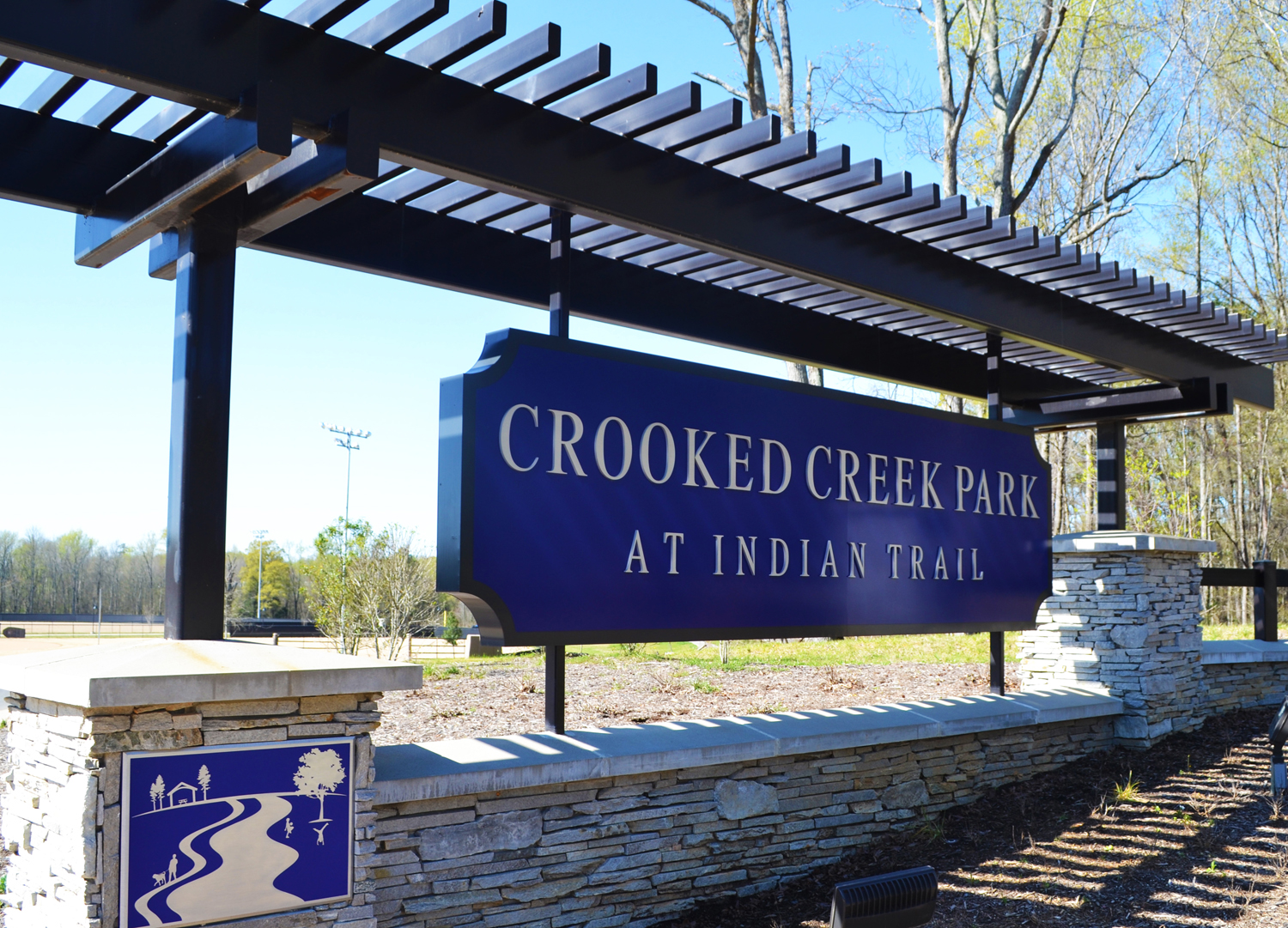 Crooked Creek Park sign