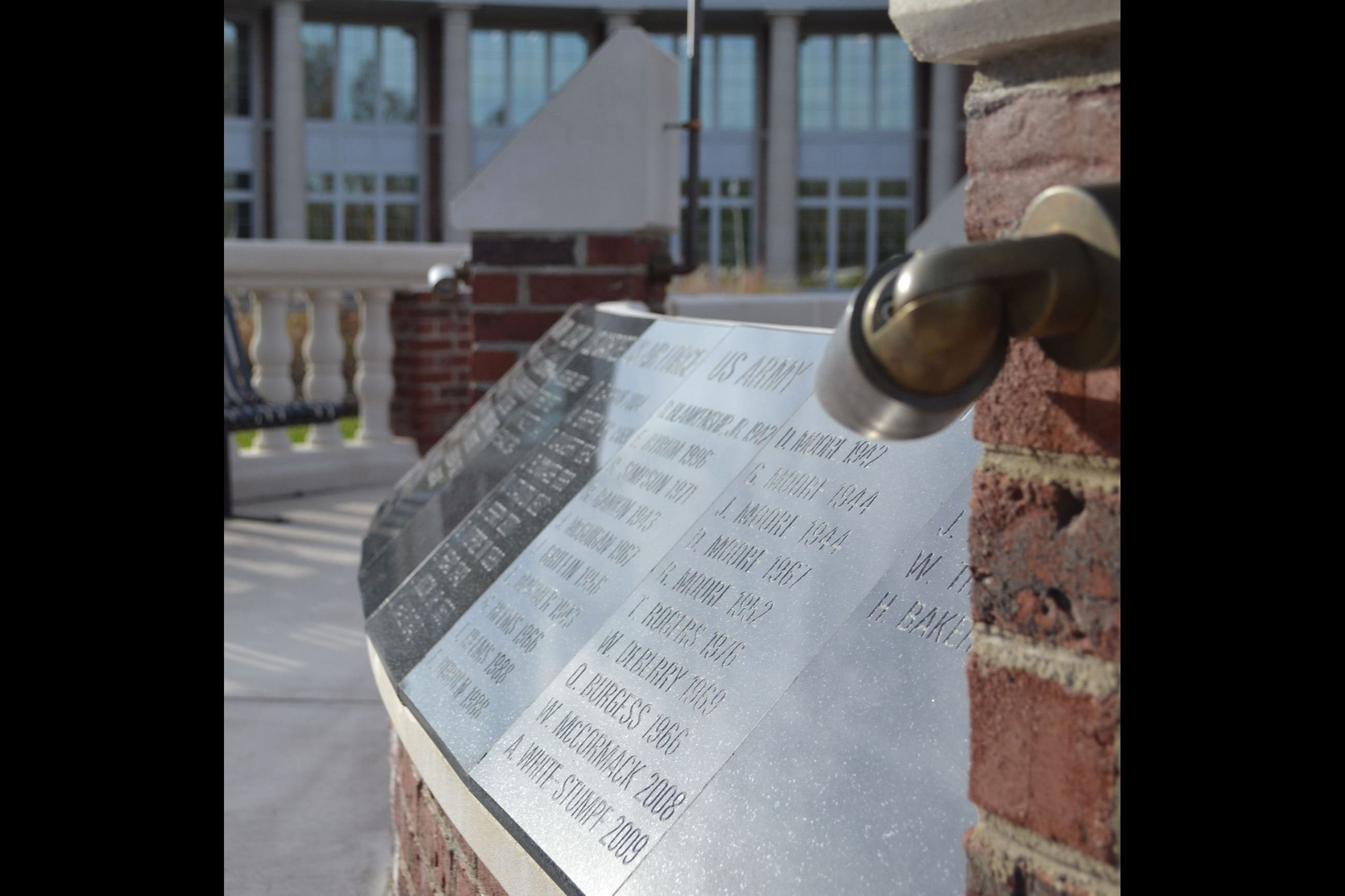 Veterans Memorial Name Engravings