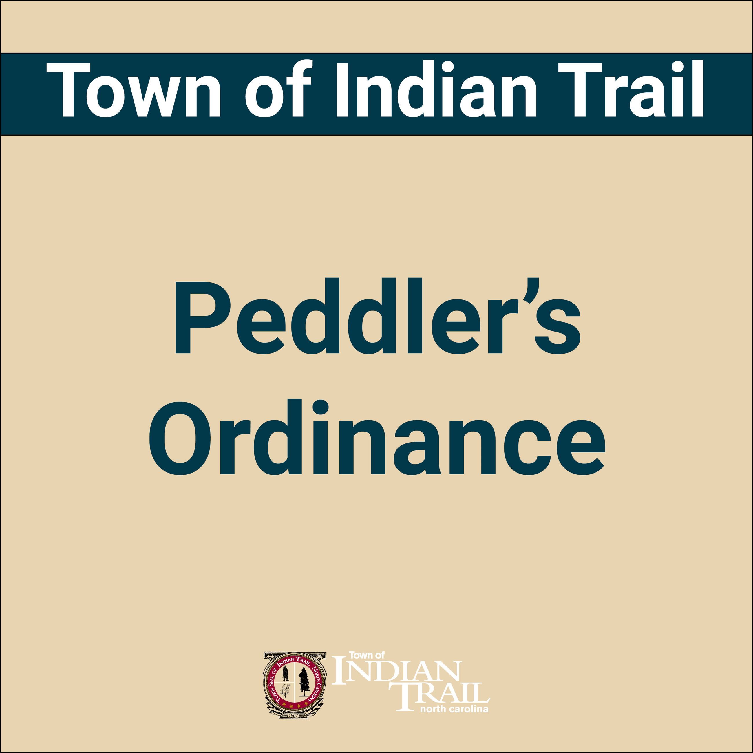 Peddler's Ordinance