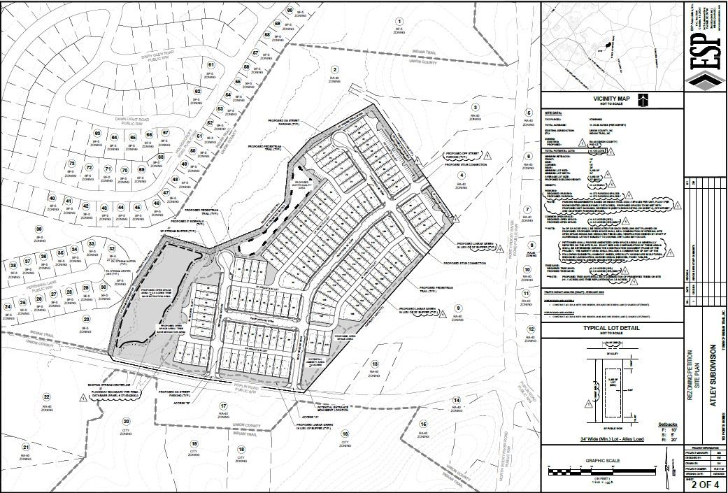 Atley Single-Family Homes Site Plan